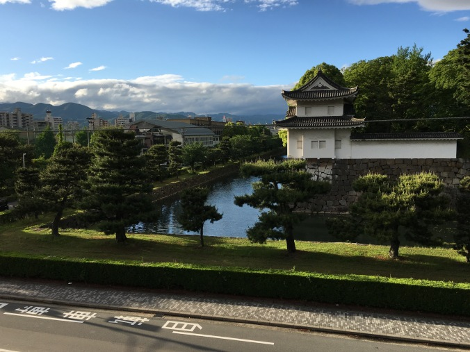 Being able to see the mountains surrounding Kyoto, as well as sky, water and trees, provides a constant reminder of the elements.