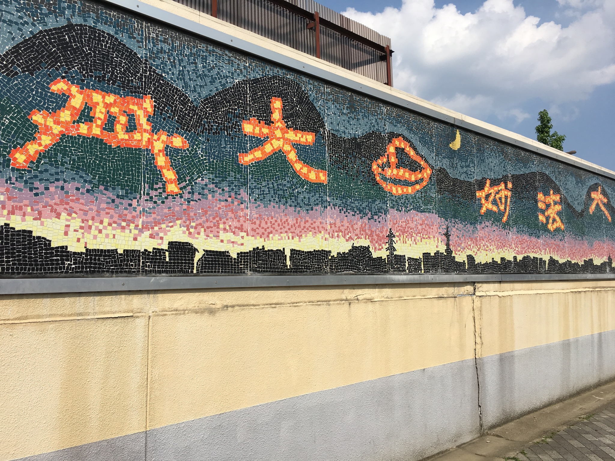 One of the first fire related images I saw in Kyoto was this mosaic, near Nijo Station, depicting the kanji that are set ablaze on the mountains of Kyoto in August. They made me smile. Why? Because as a fire ecologist it is special to see this element celebrated!
