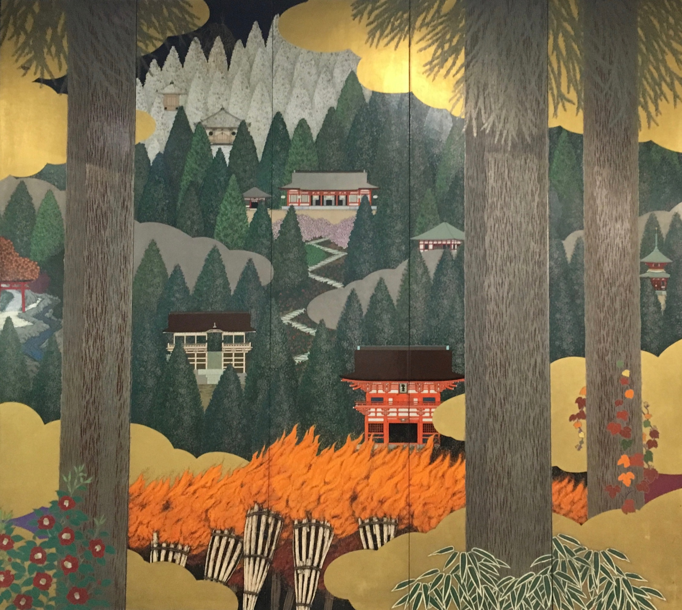 Another fire image that made me smile was this painting of the Fire Festival held on Mt Kurama on October 21st. The image is at Demia Station where you catch the train to the festival.