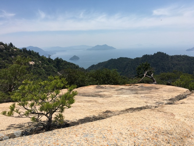 The view from the top of Mt Misen is spectacular on a clear day. One gets a sense of the sacred geography that attracted Kukai in 806 AD.