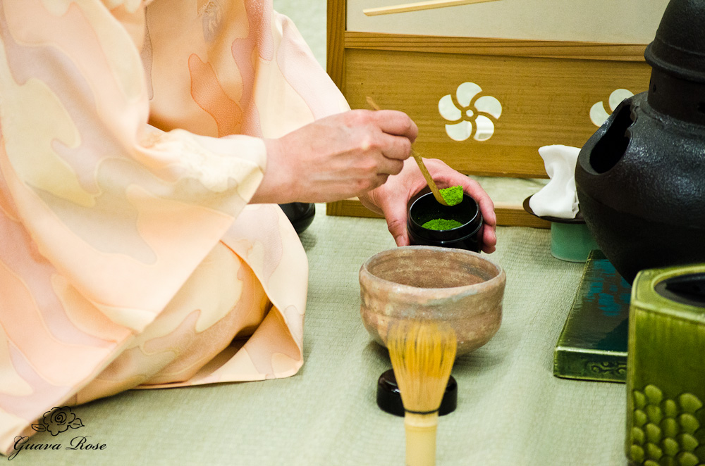 There are many images of tea utensils and the tea ceremony on the internet. This one caught my eye, possibly because I sensed the accompany text referred to tea and the five senses.