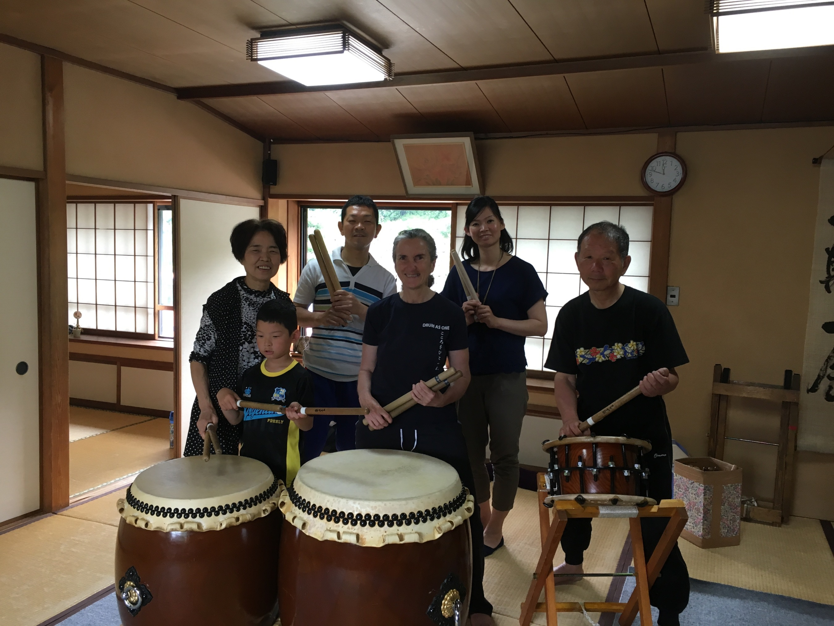 As luck would have it, my first opportunity to practice taiko was lesson only a two minute walk from my apartment. We played a Matsuri (Festival) song together. It was a lot of fun.