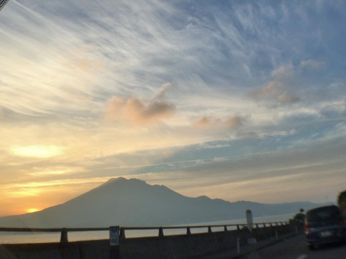 My friend Yoshihiro Hidaka lives in Kagoshima. Not surprisingly he often shares images on Facebook of Sakurajima, the active volcano across the bay from his home. This photo of the beautiful sky over the volcano was taken on December 2nd this year. When I visit Kyushu, both Kagoshima and Sakurajima are places I plan to visit. Seeing images of the mountain on a regular basis makes it feel more familiar.