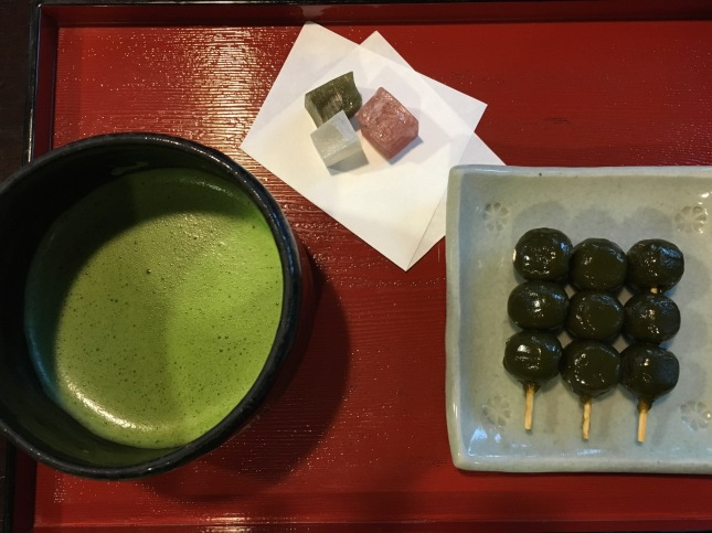 Matcha and sweets at Tsuen Chaya, japan's oldest tearoom located at the foot of Uji bridge. The booklet on the 800-year old History of Japanese Tea shown in the photo above came from this tea shop. It is worth getting a copy.